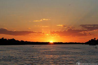Sonnenuntergang am Sambesi