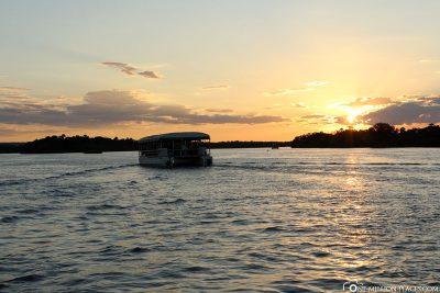 Bootsfahrt am Sambesi