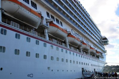 Carnival Valor in the port of Castries