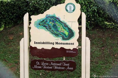 Inniskilling Monument on St. Lucia