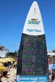 The take-off and landing times