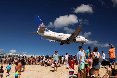 The planes at Maho Beach