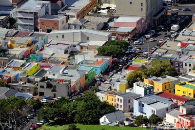 Blick auf das Stadtviertel Bo-Kaap in Kapstadt