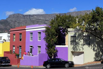 The colourful houses in the Bo-Kaap district