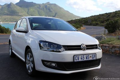 Our rental car in Cape Town