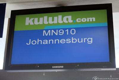 Our flight from George to Johannesburg