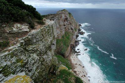 The steep cliffs