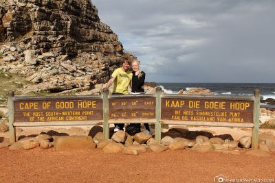 The famous sign at the Cape