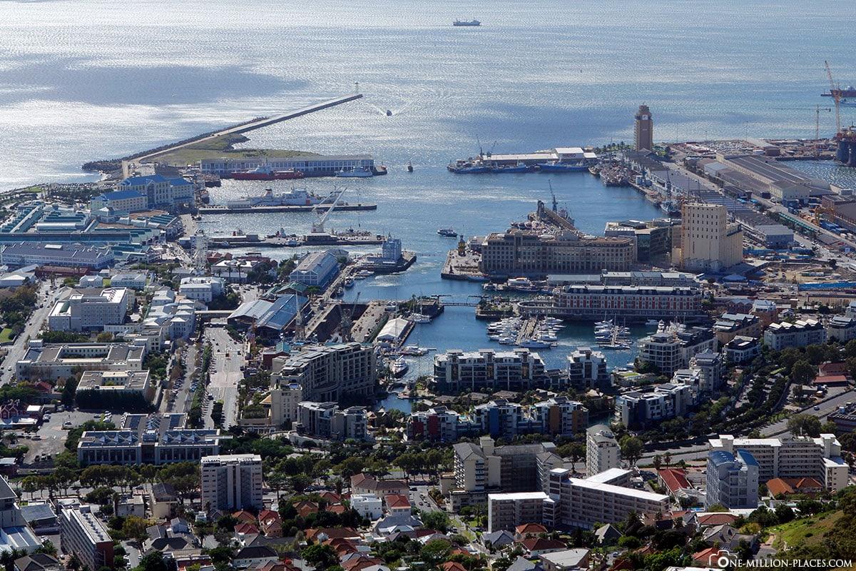 Blick auf Waterfront, Kapstadt, Südafrika, Afrika, Reisebericht