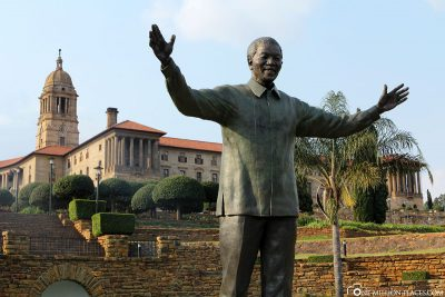 The statue of Nelson Mandela in Pretoria