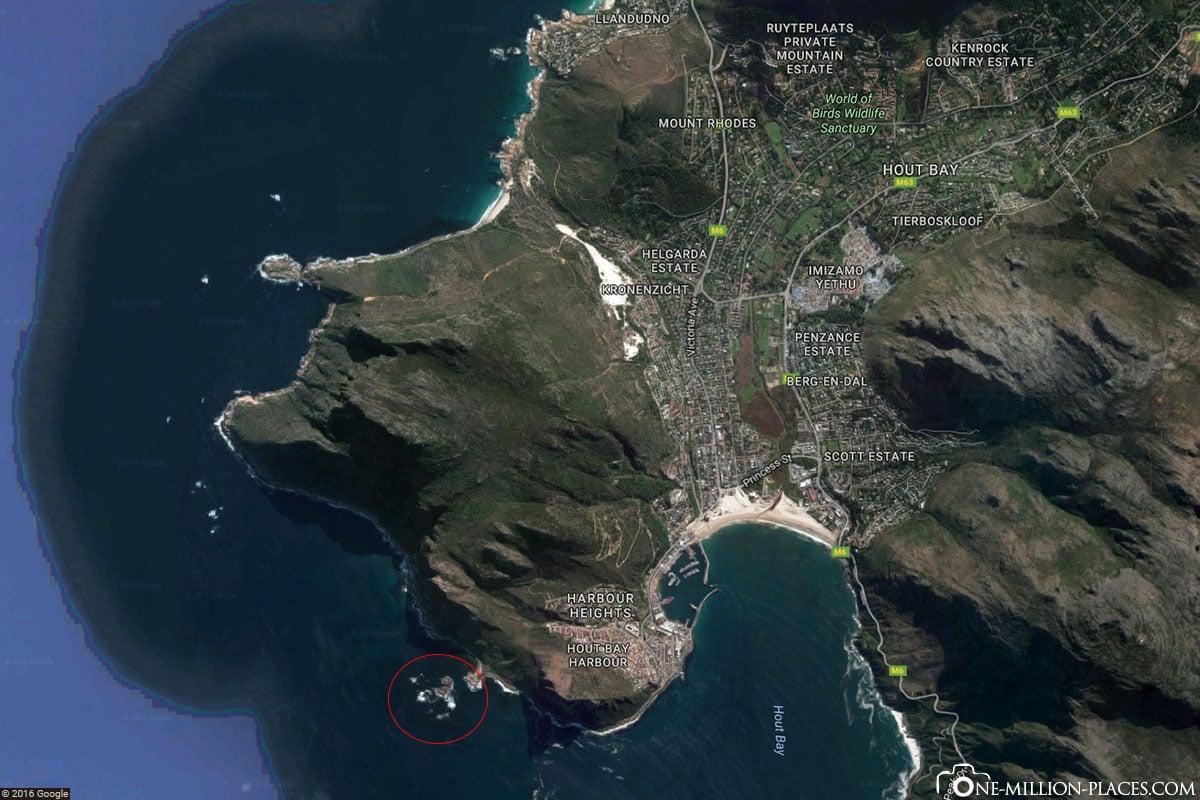 Karte, Schwimmen mit Seelöwen, Hout Bay, Südafrika, Seal Snorkeling, Afrika, Reisebericht, Auf eigene Faust