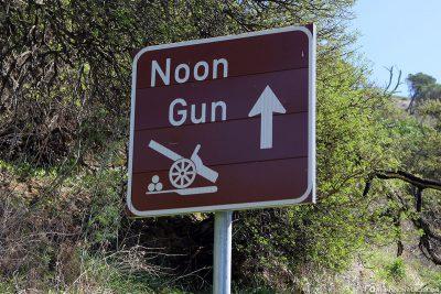 Weg zur Noon Gun in Kapstadt