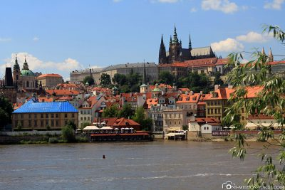 View of Moldova & Prague Castle