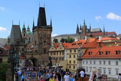 The Lesser Town district with Prague Castle