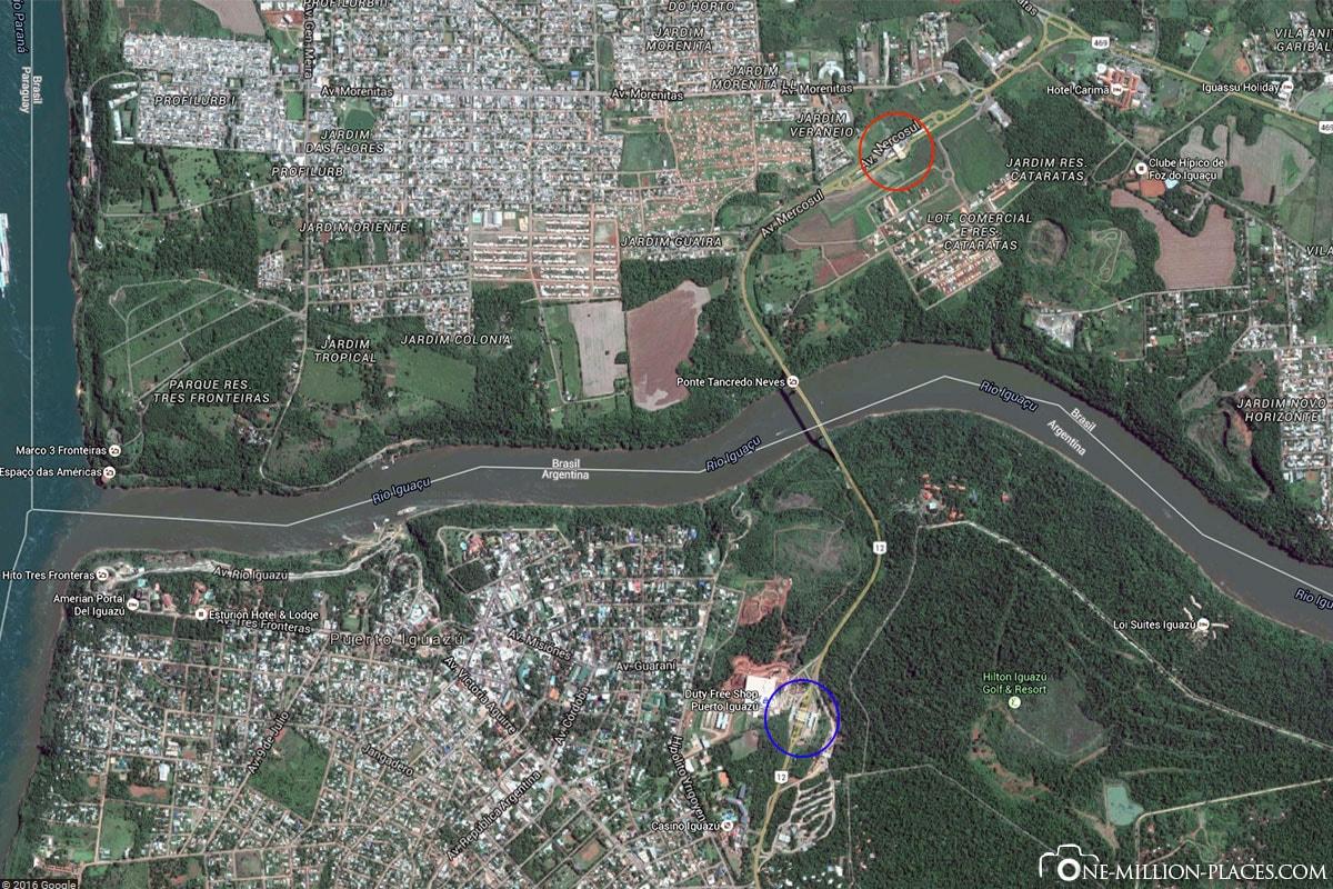 Border, Foz do Iguau, Puerto Iguaza, Waterfalls, On Your Own, Travelreport