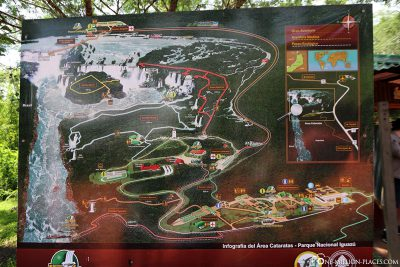 A map of the National Park