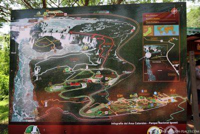Eine Karte des Nationalparks