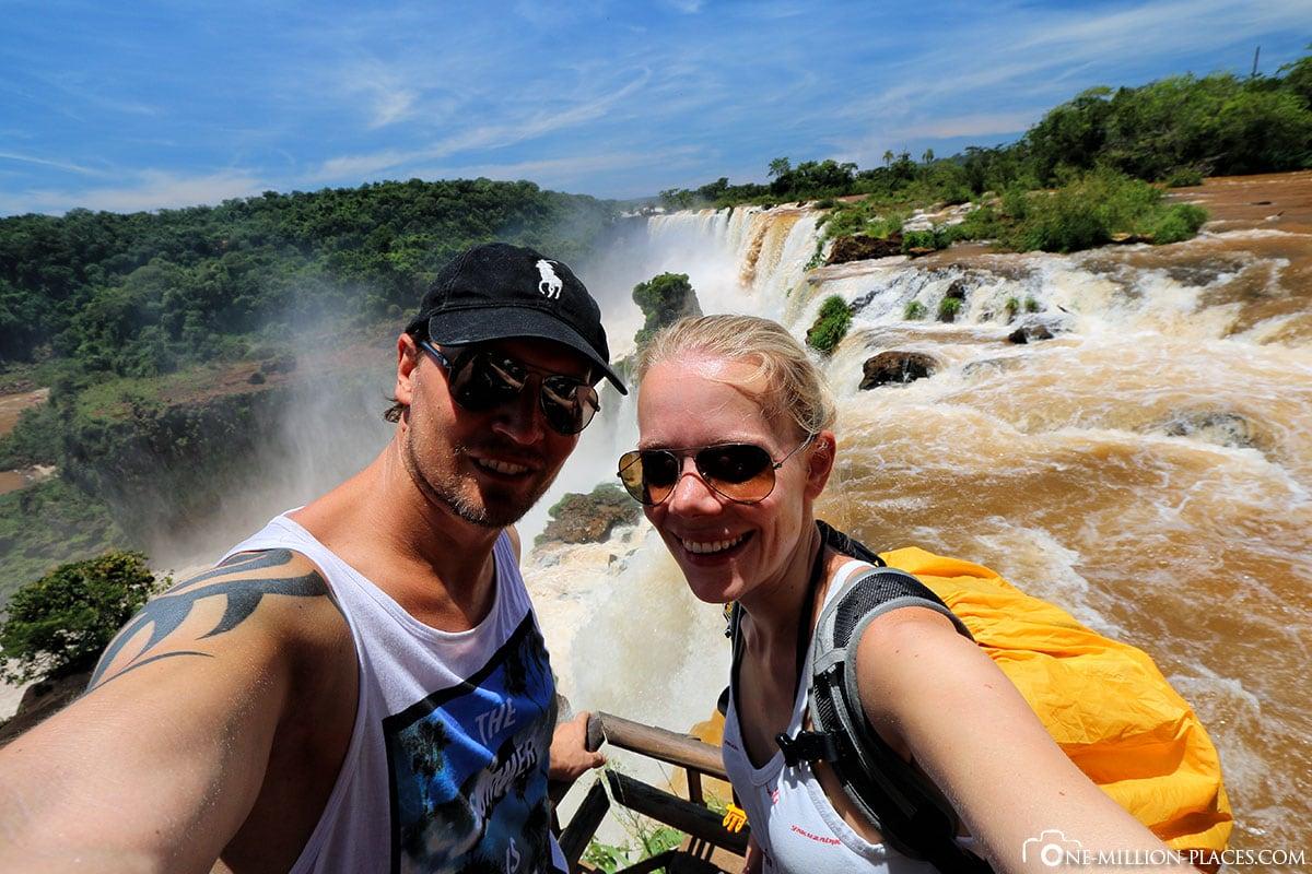 Selfie, Garganta de Diabolo, Iguaza Falls, Argentina, National Park Iguaza, Puerto Iguazé, UNESCO, Waterfalls, Own, Travelreport