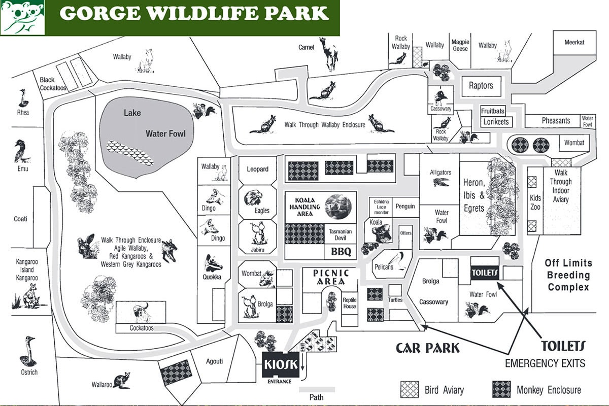 Map, Gorge Wildlife Park, Adelaide, Zoo, State of South Australia, Australia, On Your Own, Travelreport
