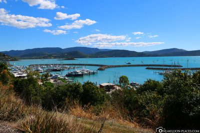 View of the port of Airlie Beach