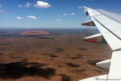 View of Uluru from the plane