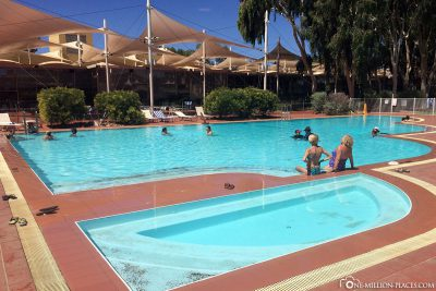 The pool of the resort