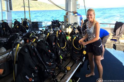 Diving cruise on the Great Barrier Reef