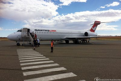 Our flight with Quantas to Adelaide