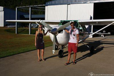 Das Flugzeug von GSL Aviation