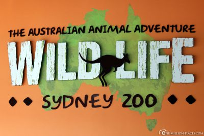 Entrance to the Wild Life Zoo in Sydney