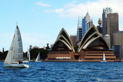 The Sydney Opera House at Port Jackson