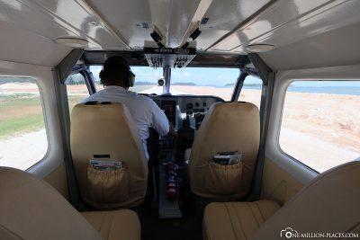 Start auf dem Belize Municipal Airport