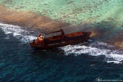 Wreck at Turneffe Atoll