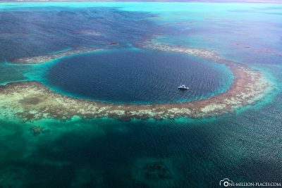 The Blue Hole from above