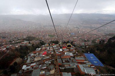 The cable car in La Paz