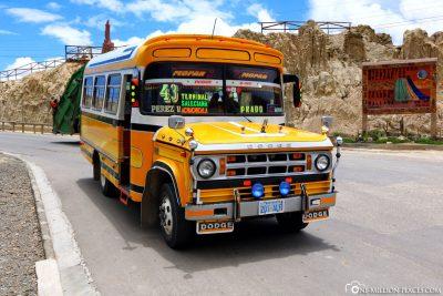 Lokaler Bus zum Moon Valley