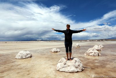 The salt desert in Bolivia