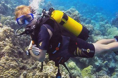 The diving spot Anau