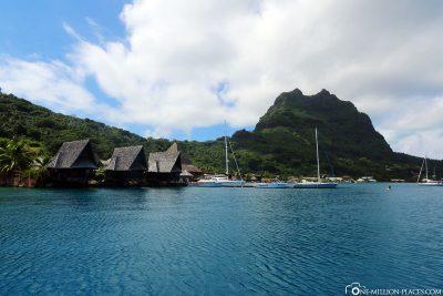The marina in Vaitape