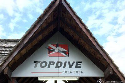 The diving centre in Bora Bora