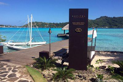 Das Hotel Sofitel Bora Bora Private Island