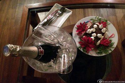 Eine Aufmerksamkeit des Hotels zum Geburtstag