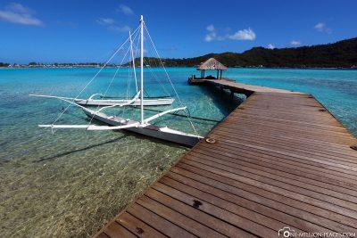 Der Anlegesteg der Boote