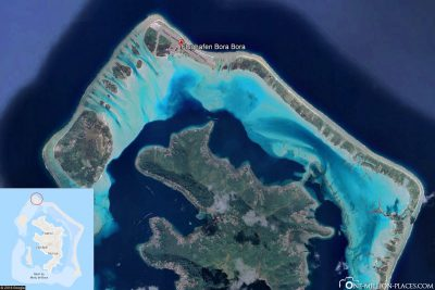 Bora-Bora Airport in Google Maps