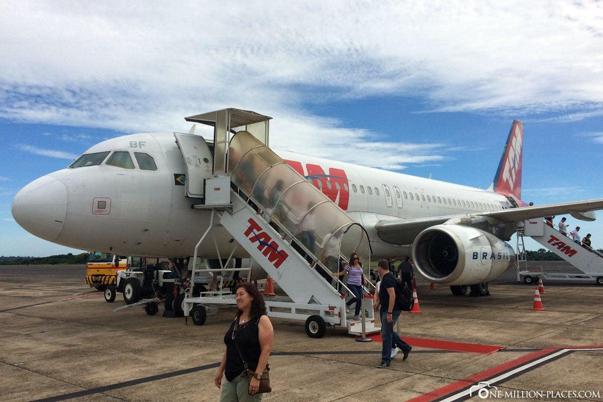 Flughafen, TAM, Foz do Iguazu, Brasilien, Iguazu Wasserfälle, Reisebericht