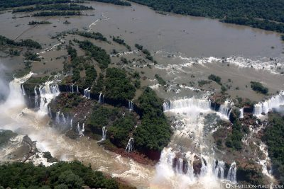 Helikopterflug über die Iguazu Wasserfälle