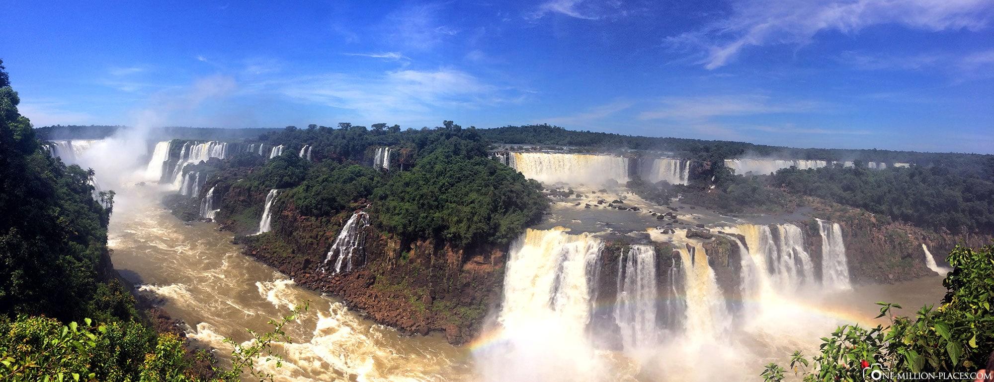 Panoramic view, Iguazu waterfalls, Iguau National Park, Brazil, On your own, Travelreport