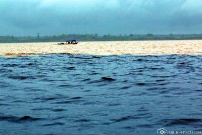 The Rio Negro meets the Amazon
