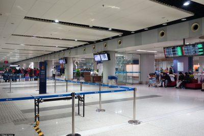 Der Flughafen in Peking