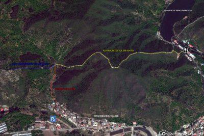 Karte von der Mauer in Huanghuacheng